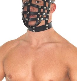RBA Leather Muzzle Mask With  Hang Ring