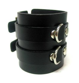FPL 2 Line Leather D Ring Bracelet with Buckles