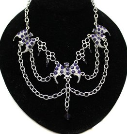 MDJ Bat And Chain Necklace