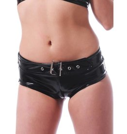 HON Hipster PVC Hot Pants With Buckle