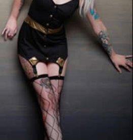 CLR Fetish Alliance Button Front Dress