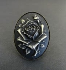 SOL Black Rose Gothic Victorian Ring