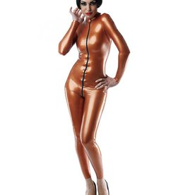 FF Matrix Latex Catsuit With Front 3 Way Zip