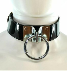 FPL Large O-Ring Patent Leather Collar