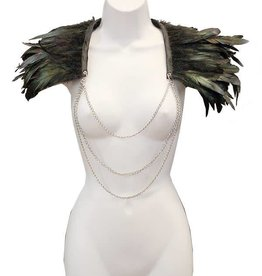 HOS Feather Collar With Chain Front