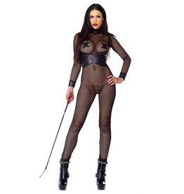 FOR Dominant Net Catsuit PVC Detail