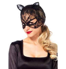 LGA Lace Cat Mask with Lace Up Back