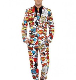 SMF Comic Strip Suit With Jacket