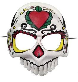 MAS Sugar Skull Molded Leather Mask