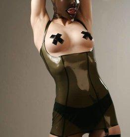 FE Julie Long Latex Torsolette With Garters