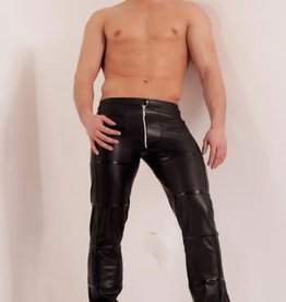 NH Mens Wetlook Pants With Front Zipper