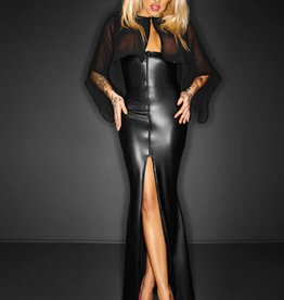 NH Desire Wetlook & Mesh Long Dress