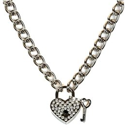 FPL Chain Necklace With Rhinestone Heart