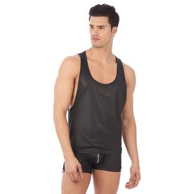 GH Reckless Mesh & Wetlook Zip Side Top