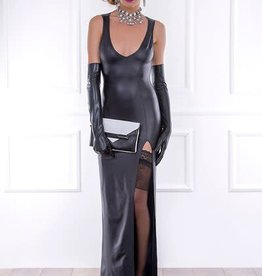 PC Barbara Wetlook Long Dress With High Slit