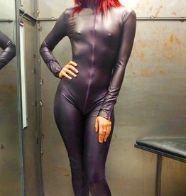 PC Sweety Wetlook Catsuit with 3 Way Zip
