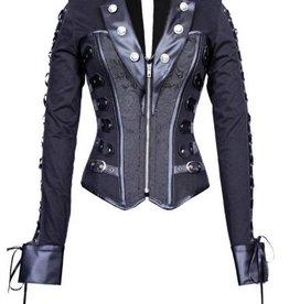 ETC Vintage Gothic Vegan Leather Corset Jacket