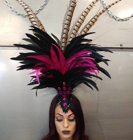 BOA Feather Headband Headdress With  Gem Detail