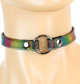 FPL Holographic Rainbow O Ring Choker