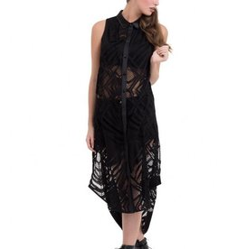 CLR Large Diamond Lace Button Up Dress