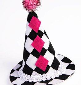 CLR Harlequin Clown Mini Hat