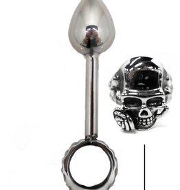 ETC Skull And Rose Anal Plug