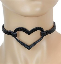 FPL Leather Heart Choker