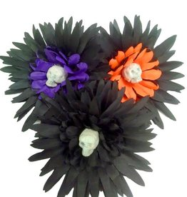 BP Skull Flower Hairclip