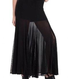 SIL Sheer Cobweb Long Skirt With Attached Shorts
