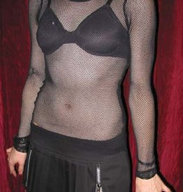 TRP Womens Fishnet Long Sleeve Top