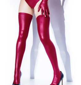 COQ Wetlook Stay Up Thigh Hi Stockings