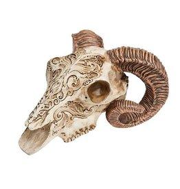 LOE Scrimshaw Rams Skull