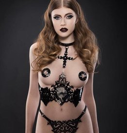 FK Nero Patent Leather Underbust Harness