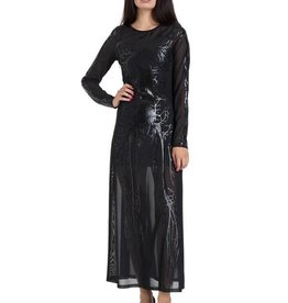 SIL Black Hearted Veins Maxi Dress