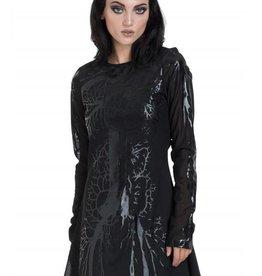 SIL Black Hearted Veins Skater Dress
