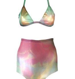 VEX Bright Pastel Knickers And Bikini Top Set