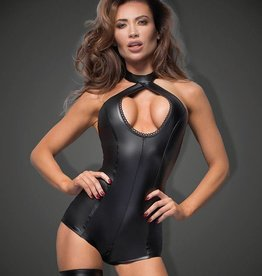 NH Power Wetlook Bodysuit With Keyhole Cleavage