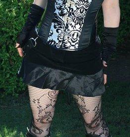 CLR Velvet Ruffle Mini Skirt