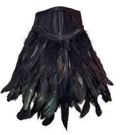 HOS Satin & Feather Posture Collar