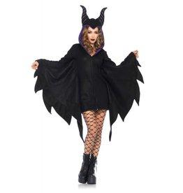 CLR Cozy Villain Fleece Dress With Horn & Hood
