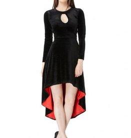 CLR Velvet High Low Dress