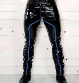 CLR Mens Wetlook Pants With Blue Trim