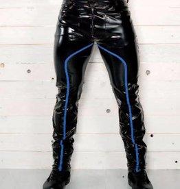 MOD Mens Wetlook Pants With Blue Trim