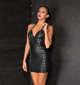 MOD Wetlook Double Zip Front Dress