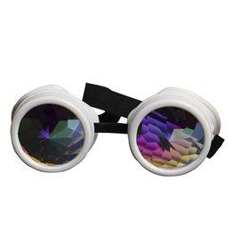 WF White Robot Goggles with Hologram Lenses