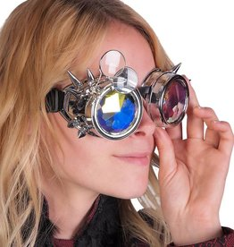 WF Spike Goggles with Magnifying Glasses & Kaleidoscope Lenses  Silver