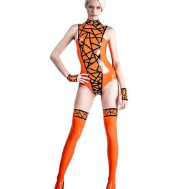 AFF Chaos Latex Sleeveless Bodysuit