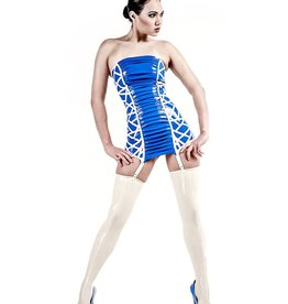 AFF Gemini Strapless Latex Dress