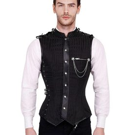 VGL Gothic Mens Over Chest Corset Top
