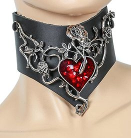FPL Leather Posture Collar with Heart